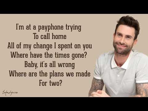 Maroon 5 Feat  Wiz Khalifa  Payphone    Lyrics