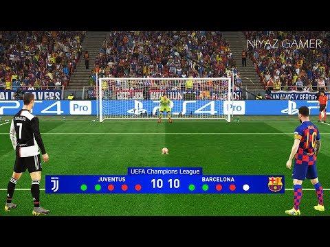 Juventus vs Barcelona   Penalty Shootout   Final UEFA Champions League   Messi vs Ronaldo   PES 2019