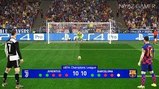 Juventus vs Barcelona | Penalty Shootout | Final UEFA Champions League | Messi vs Ronaldo | PES 2019