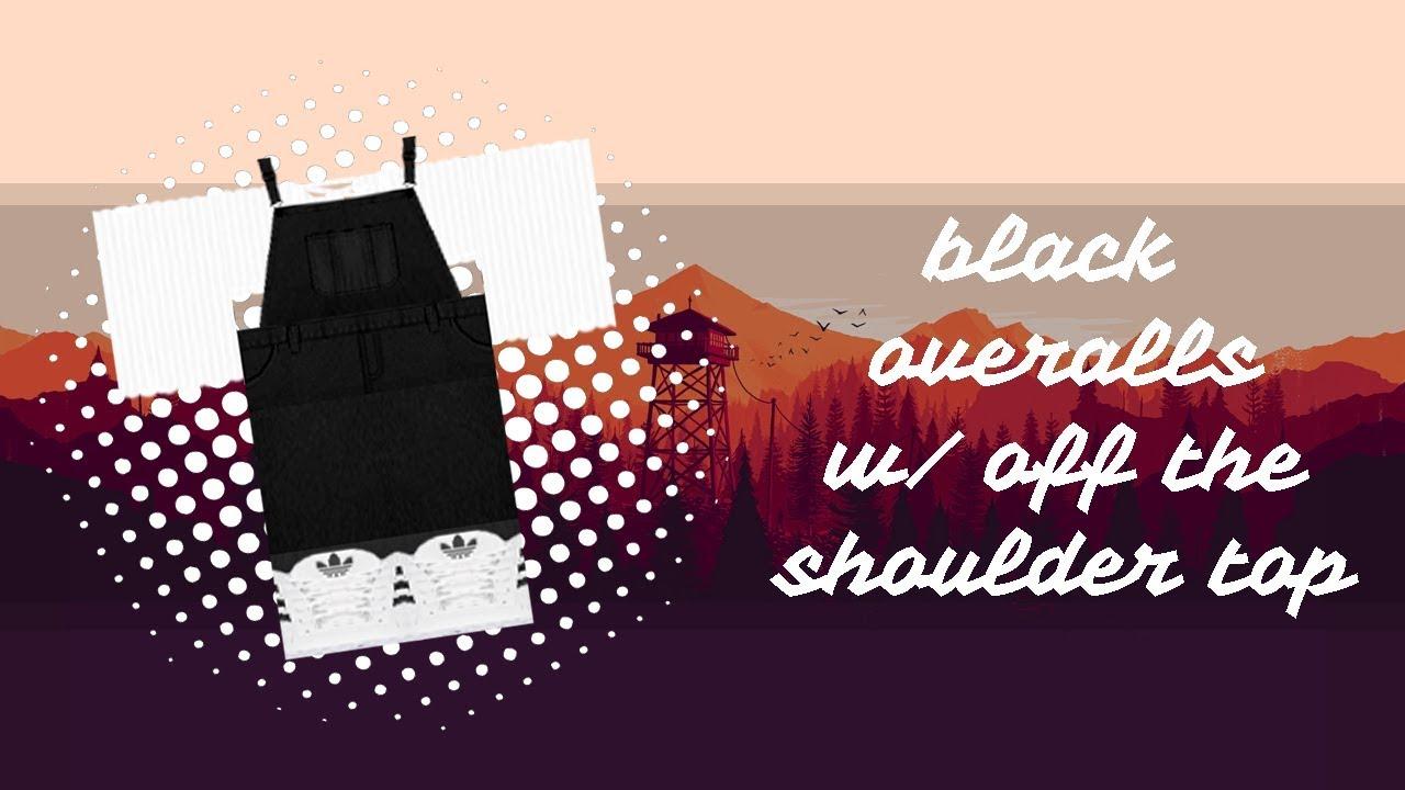 Black Overalls Roblox T Shirt