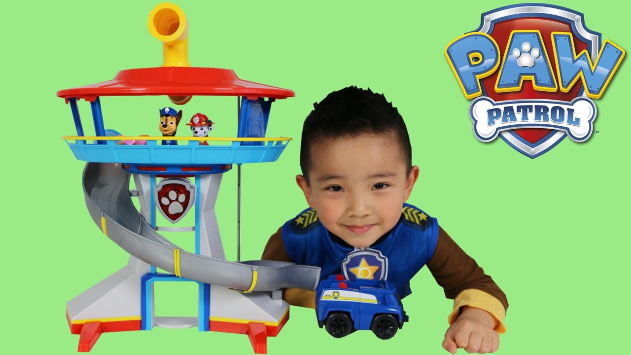 Paw Patrol Toys Lookout Playset Unboxing Opening Fun With