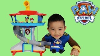 Paw Patrol Toys Lookout Playset Unboxing Opening Fun With Chase Ckn Toys