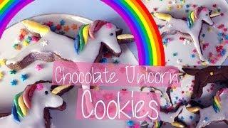 CHOCOLATE UNICORN COOKIES | Cherry's Kitchen