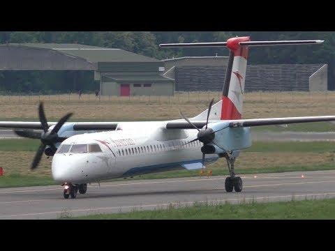 Austrian Airlines Dash 8 Landing At Graz Airport   OE-LGG