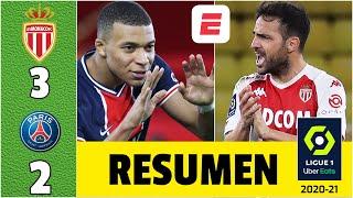 Monaco 3-2 PSG IMPRESIONANTE remontada y gol de Fábregas. Doblete de Kylian Mbappé | Ligue 1
