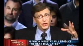 Bill Gates announces what are the 2 TOP industries to be a part of!!!!