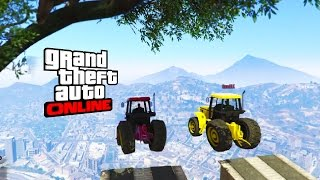 Biggest Fall of The Tractors(GTA 5 Online funny moment Race) Hindi/punjabi