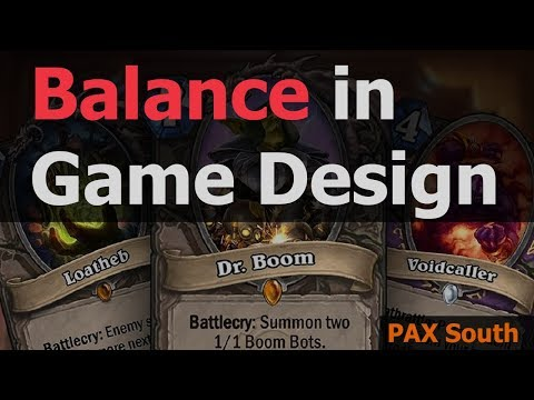 PAX South 2018 --  Balance in Game Design