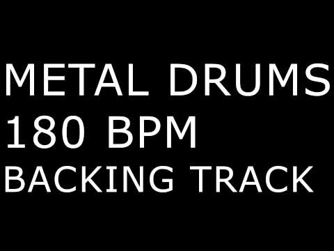 Metal Drums ONLY / 180BPM / DRUM BACKING TRACK