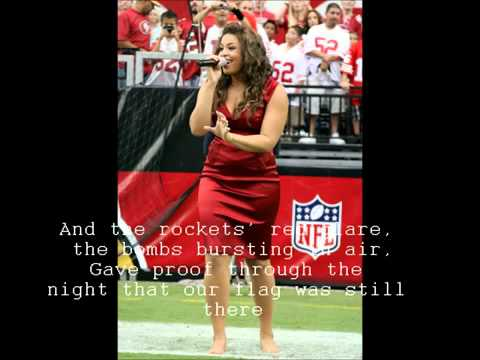 Jordin Sparks - The Star Spangled Banner (The National Anthem) Lyrics HQ