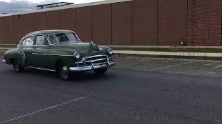 1950 Chevrolet DeLuxe Test Drive (Auction Time Bid Board)