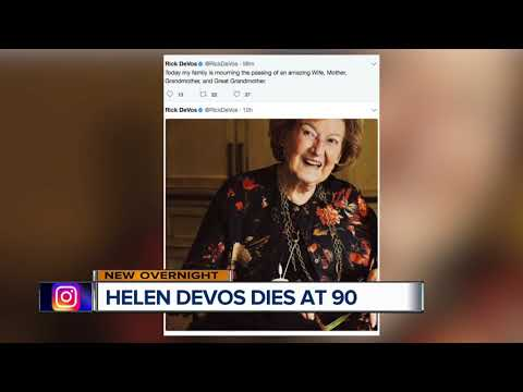 Helen DeVos, who backed health, education causes, dies at 90
