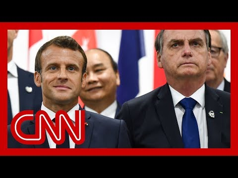 French President Emmanuel Macron slams Brazil's president over Amazon fires