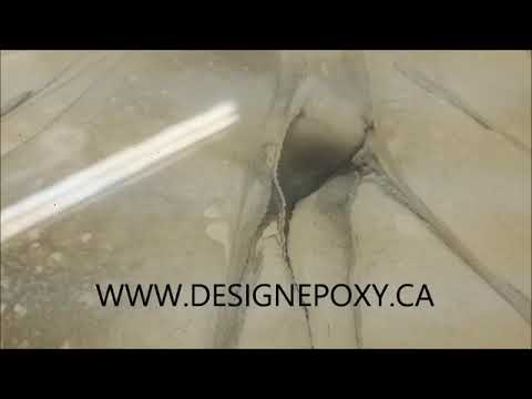 New faux Marble epoxy countertop finish