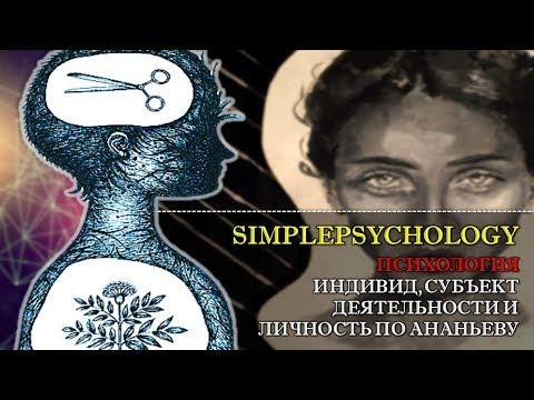 Психология. Индивид, субъект деятельности, личность и индивидуальность по Б.Г. Ананьеву.