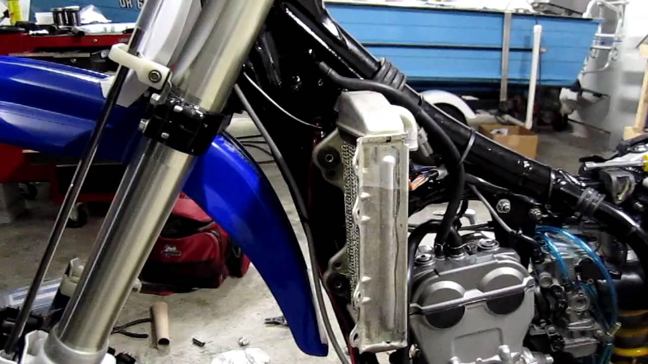 Yamaha R Radiator Install