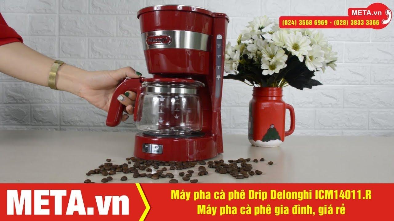 Máy pha cà phê gia đình Drip Delonghi ICM14011.R chính hãng, giá rẻ