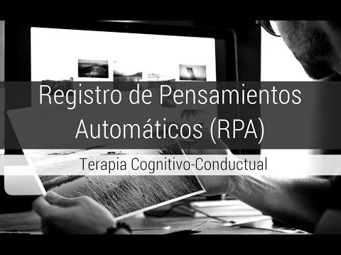 Registro De Pensamientos Automáticos (Terapia Cognitivo-Conductual)