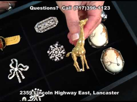 Vintage Antique Estate Jewelry Veleska Jewelry (Lancaster PA) Cartier Signed Pieces Brooches Cameos