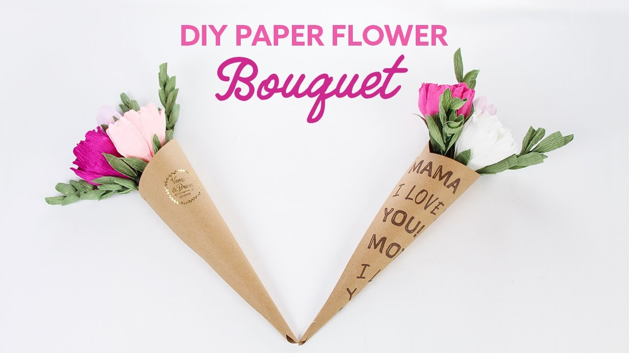 Diy paper flower bouquet flower cones peonies bouquet de diy paper flower bouquet flower cones peonies bouquet de flores de papel collab carte fini mightylinksfo