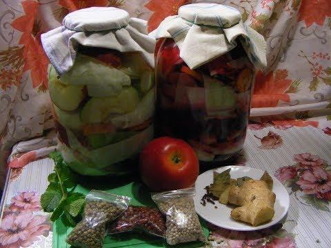 Засолка капусты со свеклой и яблоками.