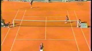 Steffi Graf (Hingis Serving for 99 French Open)