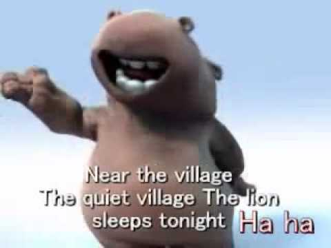 Happy Hippo - The lion sleeps tonight - Sub english