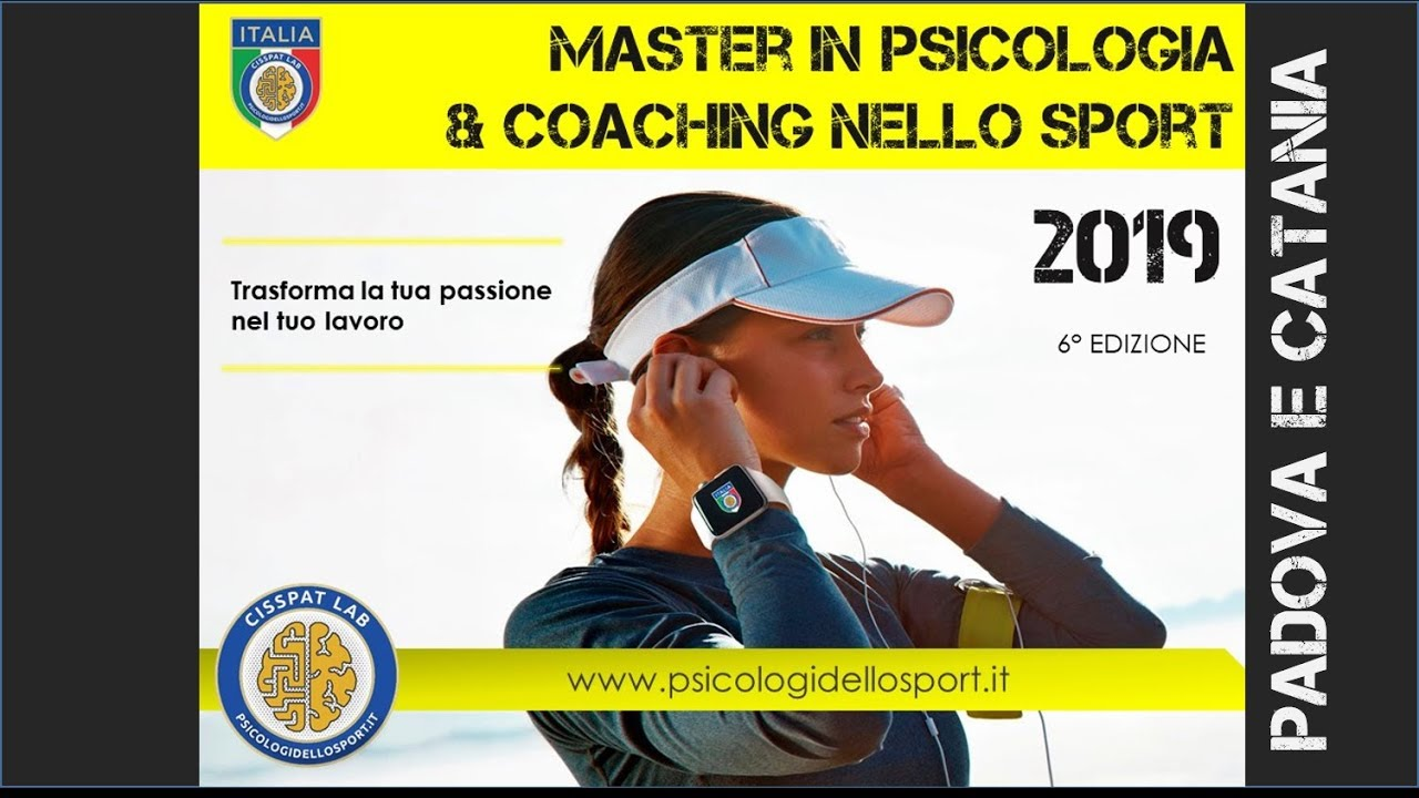 Master In Psicologia E Coaching Dello Sport 2019 2 Livello Padova Psicologi Dello Sport
