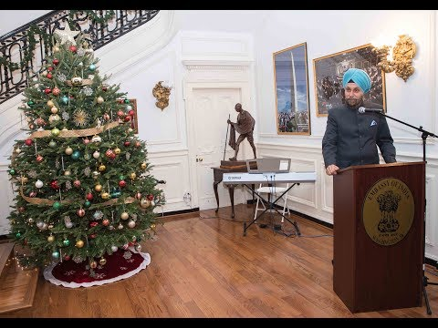 Christmas Celebrations at Embassy of India on Wednesday December 20, 2017.