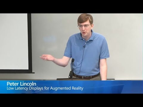 Low Latency Displays for Augmented Reality