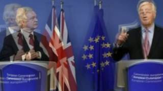 Brexit talks resume Get down to business, David Davis urges