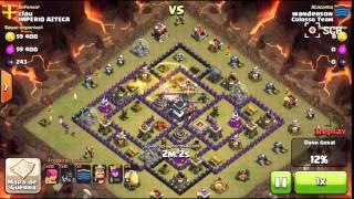 Clash of Clans - Ataque com Corredores Lvl 5 – Colosso Team