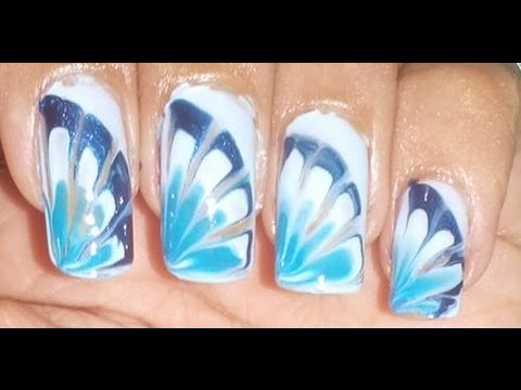 Diy water marble nail art without water youtube prinsesfo Images