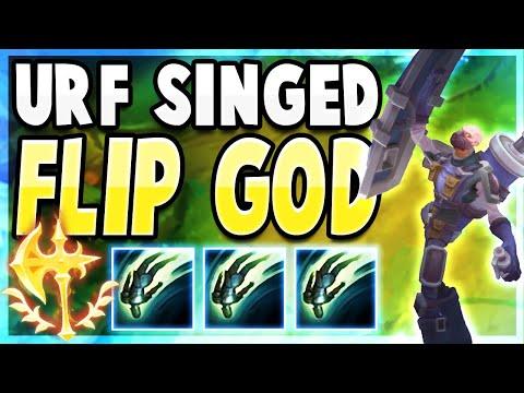 PERMA FLIP SINGED IN ULTRA RAPID FIRE | League Of Legends Singed URF Full Gameplay