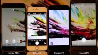 MEIZU MX4 vs Iphone 6 vs doogee f3 vs huawei p8 Auto Focus Competition