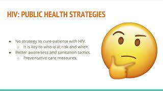 Public Health 1: Research Project on HIV