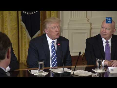 President Donald Trump Leads a Meeting with the U.S. House Deputy Whip Team
