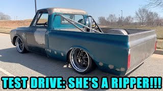 First Drive of My Body-Dropped, LT-Swapped Chevy C10: Finnegan's Garage Ep.138