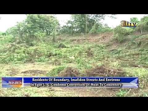 Egor residents condemn conversion of moat to cemetery