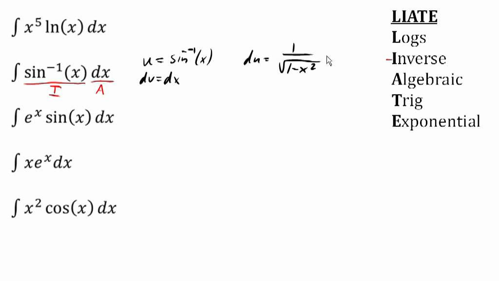 Integration By Parts Choosing U And Dv Youtube