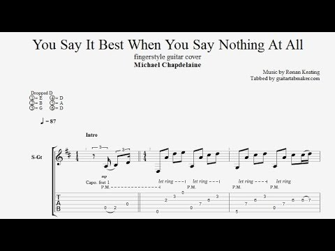 When You Say Nothing At All TAB - Fingerstyle Guitar Tab - PDF - Guitar Pro