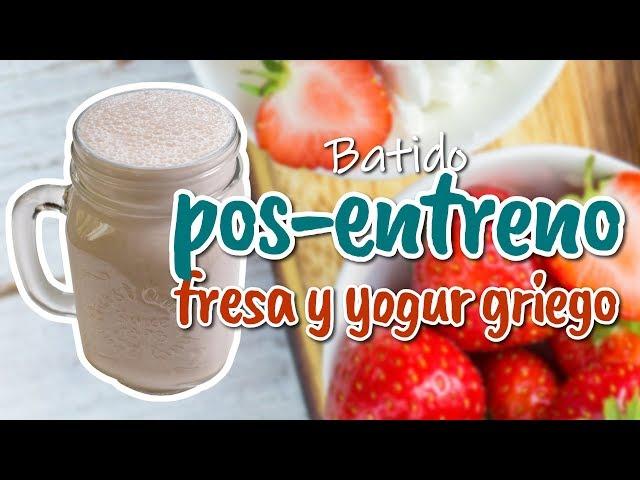 Batido pos-entreno con fresa y yogur