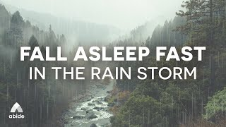 GOD IS CARRYING YΟU In The Storm | Sleep Talk Down + Relaxing Rain Sounds to Sleep Soundly All Night