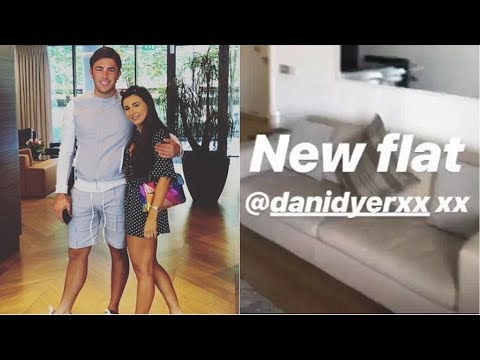 Dani Dyer and Jack Fincham give a tour of their new flat