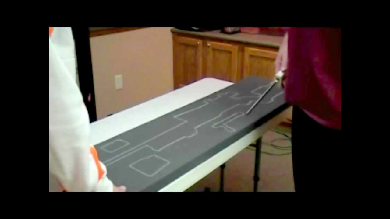 how to cut road case foam