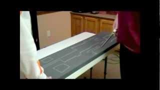 Cutting in foam for a Pelican 1750 rifle case.