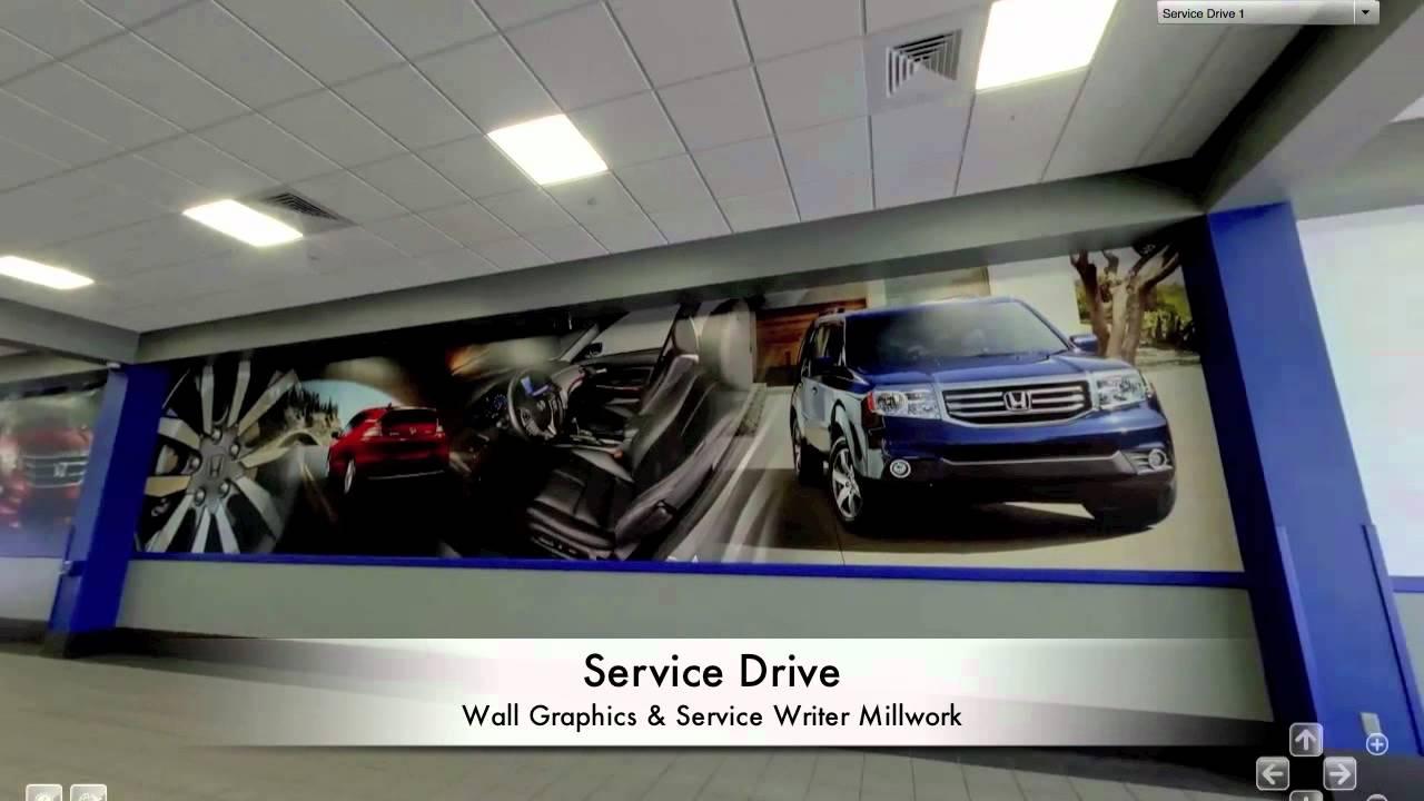 Round Rock Honda Service Graphics U0026 Millwork