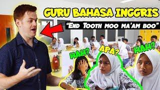 KOCAK!! Bule Jowo Masuk Sekolah SMA Jadi Guru Baru !!