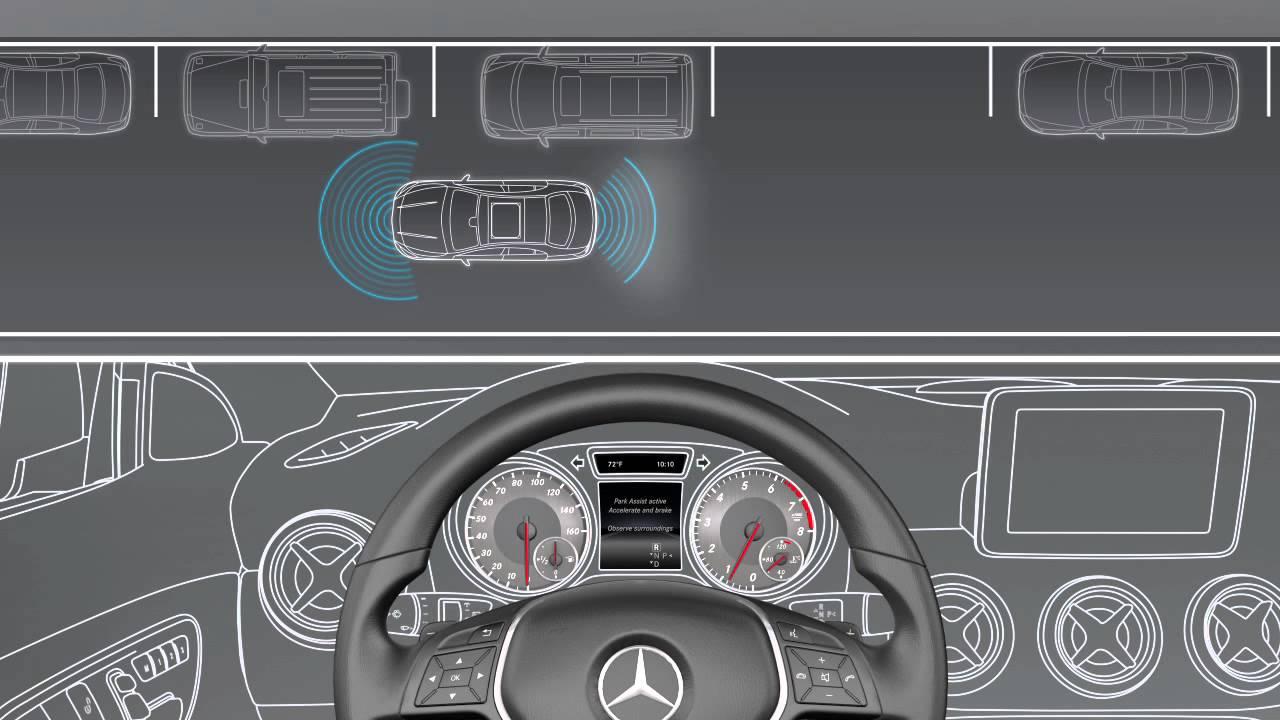 Cla class active parking assist mercedes benz usa for Parking at mercedes benz superdome