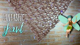 Как связать фантастическую ШАЛЬ БАКТУС спицами How to knit Fantastic Shawl
